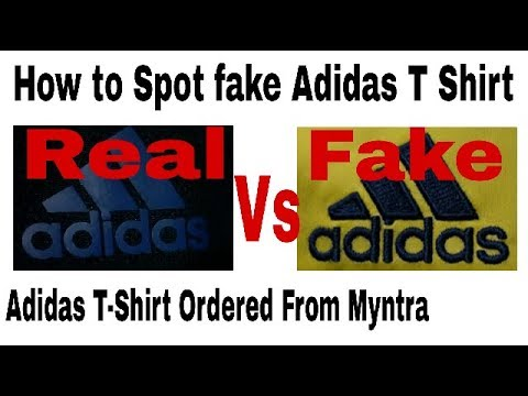 Adidas T Shirt Fake Vs Real Adidas T Shirt How To Identify Fake