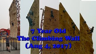 Climbing 35 Feet Wall at PNE / Playland (7 Year Old)