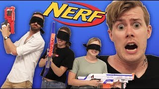 BLINDFOLDED NERF CHALLENGE!!! Fortnite In Real Life!