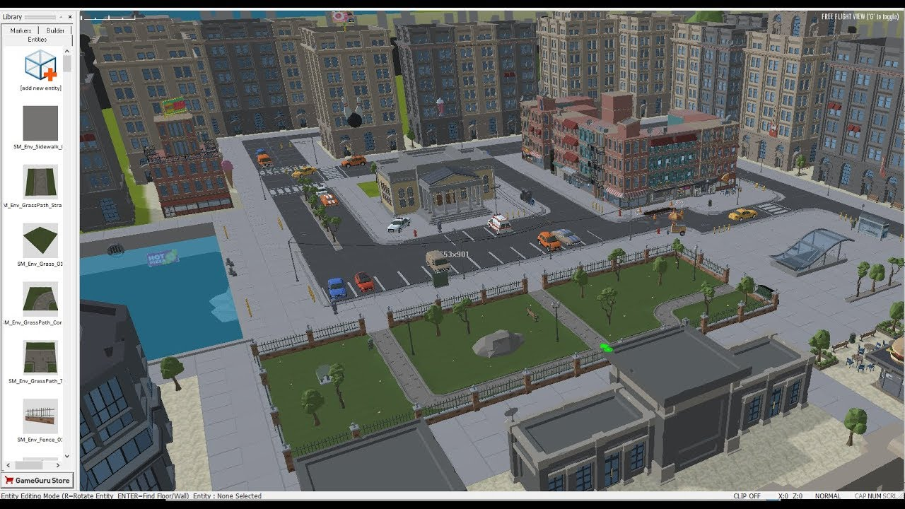 Quick object placement , level design - FBX import/export - GameGuru Loader