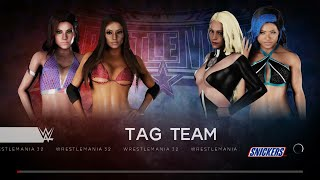 WWE 2K18 - Candice Michelle and Madison Rayne VS Scarlett Bordeaux and Mia Yim