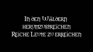 Die Streuner - Straßenräuberlied (Lyrics)