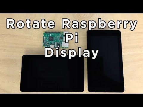How To Rotate Raspberry Pi Video Display / Screen