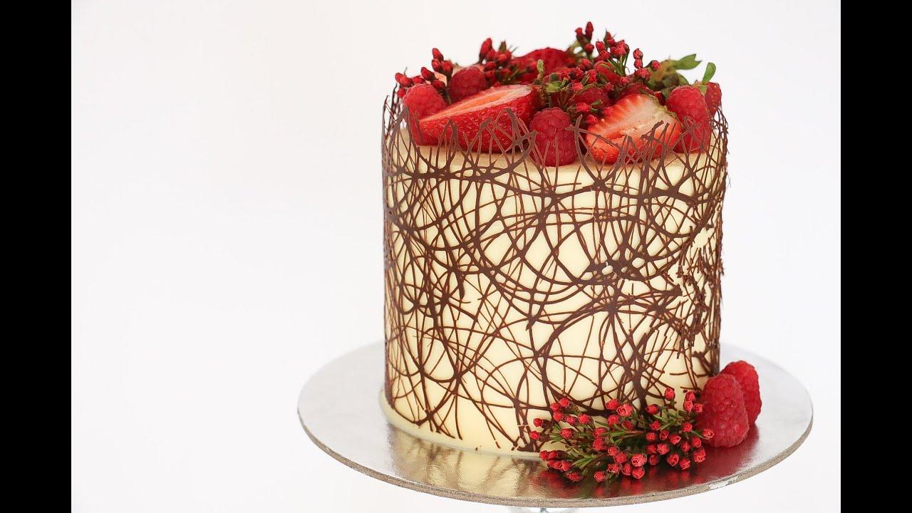 Chocolate Border Cake Tutorial Rosies Dessert Spot YouTube