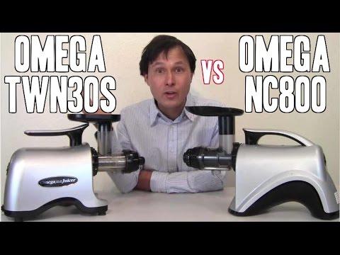 Omega NC800 vs Omega TWN30S Juicer Comparison Review: Vegetable Juice