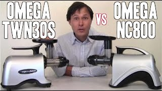 omega nc800 vs omega twn30s juicer comparison review vegetable juice