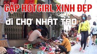 GẶP HOTGIRL vô cùng XINH ĐẸP bịt mặt ĐI CHỢ NHẬT TẢO quận 10 mua sắm   Saigon - Vietnam