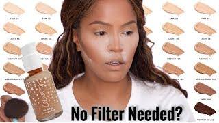 NEW! Colourpop No Filter Foundation Review + Wear Test | MakeupShayla