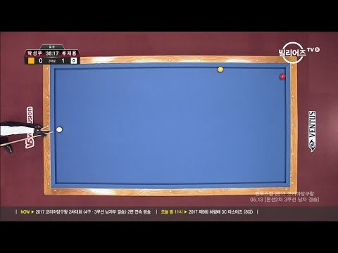 [당구-Billiard] 3 Cushion_Sung-Woo Park v Jae-Yong Ryu_the King of Korea Billiard_2R_Final_Full_1