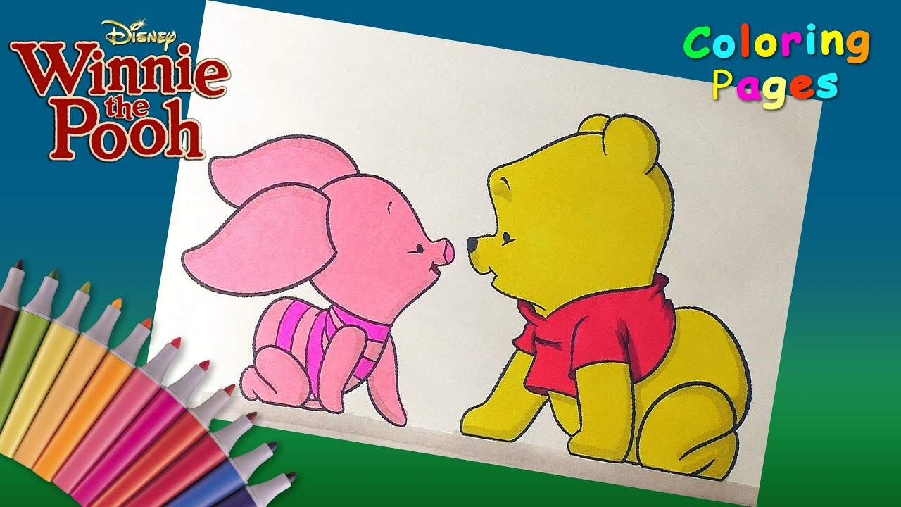 Baby Winnie Pooh And Baby Piglet Coloring Pages For Kids Winnie Pooh And His Friends Coloring Book Youtube