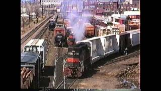 Guilfords Lawrence (MA) yard switching action on 04/23/1990
