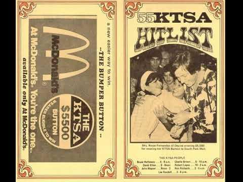 1970s KTSA radio ident for Stayin' Alive