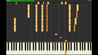 【ピアノ音アレンジ】について あくまで観賞用で、著作物保護の観点からあえて演奏できないように作っています。 演奏したい方は市販の楽譜を購入して演奏してください。