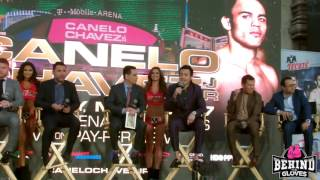 FULL FIERY SAUL CANELO ALVAREZ VS JULIO CHAVEZ JR PRESS CONFERENCE IN L.A.