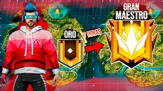DE ORO A GRAN MAESTRO (TOP GLOBAL) en 7 HORAS (TEMPORADA 15) FREE FIRE !!