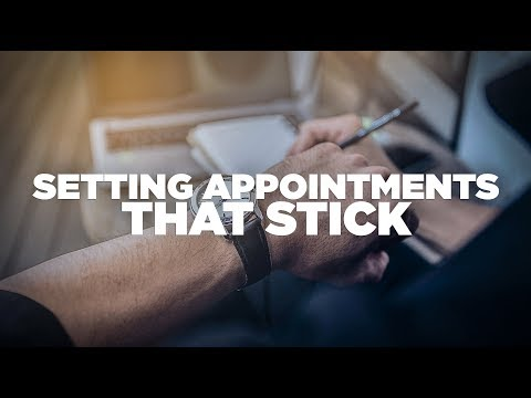 How to Set Appointments that Stick - Young Hustlers