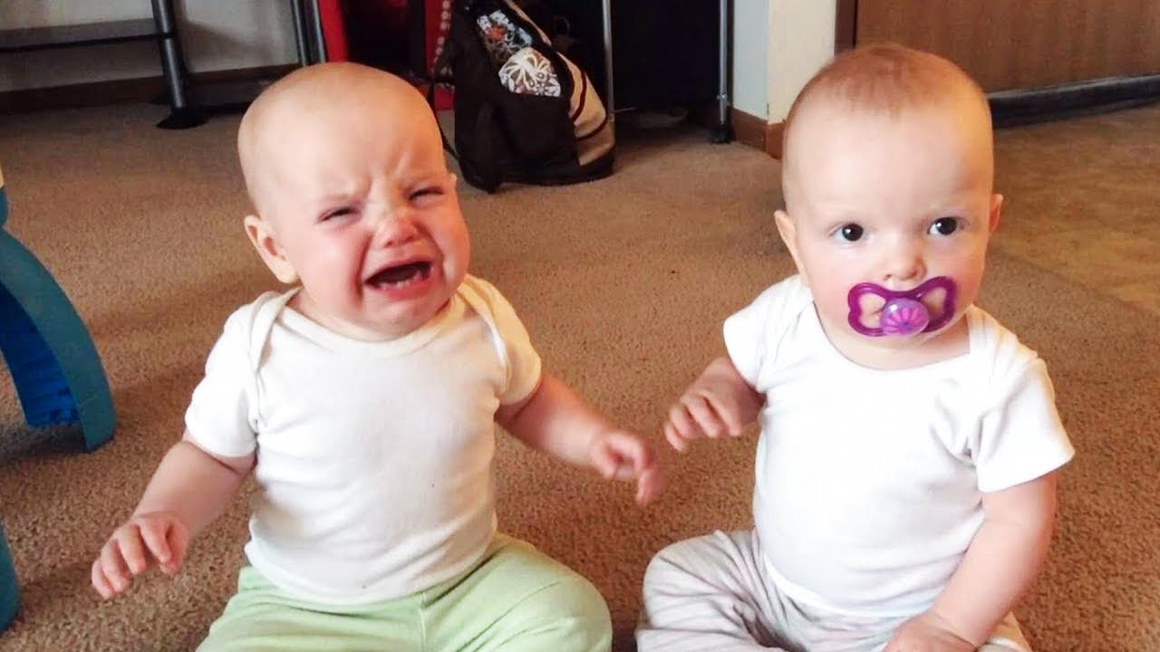 Funny Twin Babies Argue Over Everything - JustSmile