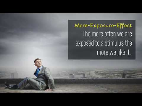 The mere exposure effect : Introduction to Social Psychology from YouTube · Duration:  5 minutes 12 seconds