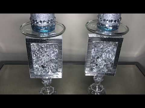 DOLLAR TREE DIY GLAM CANDLE HOLDERS | BLING DECOR