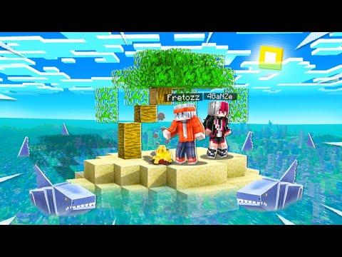 ติดเกาะอยู่กับฉลามไร้กาย l Minecraft หมู่บ้านสยองขวัญ (มายคราฟ สตอรี่)