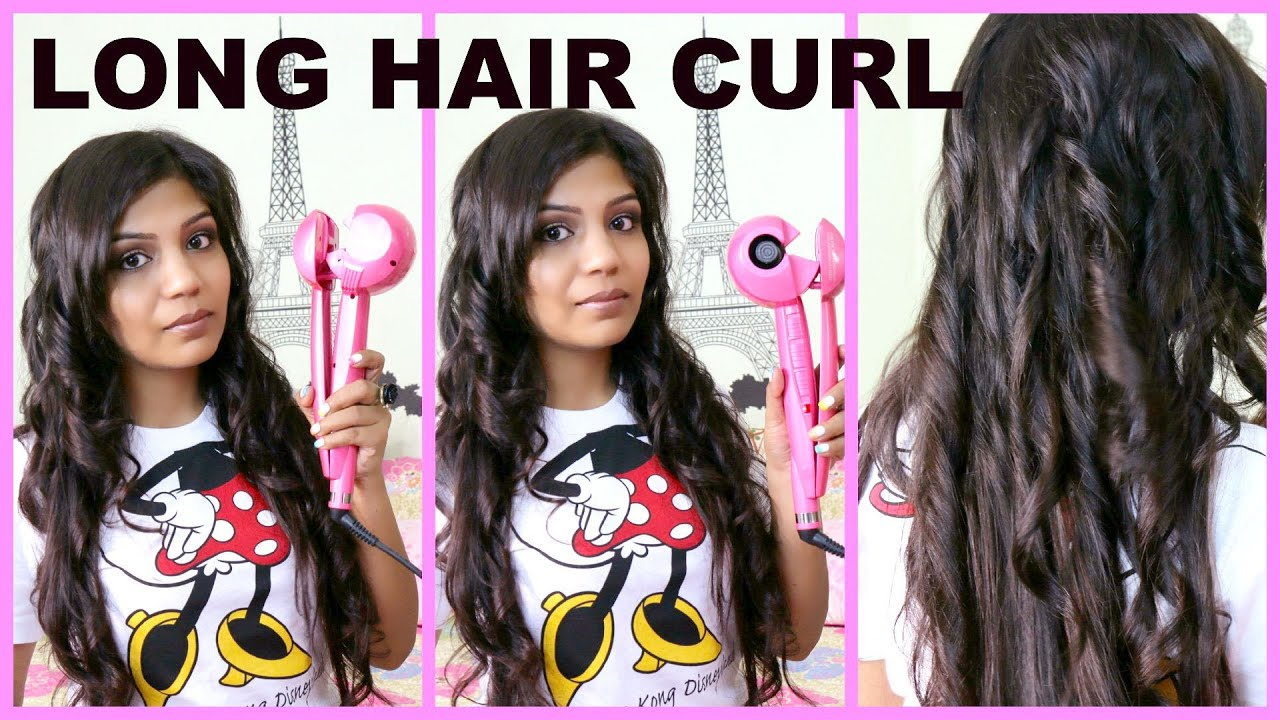 How To Curl Long Hair Fast  SuperPrincessjo  YouTube