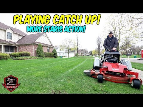 2 MAN TEAM Daily Revenue Goals W/ More Exmark Staris Mowing Action!