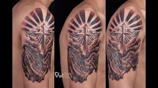 Hình xăm thánh giá - Hai Anh Tattoo - Xăm hình Đài Loan