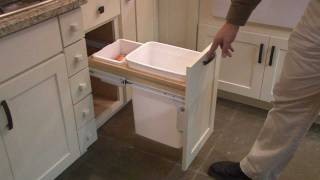 Kitchen Cabinet Pull Out Wastebasket by CliqStudios.com