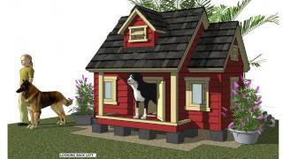 Dh301 - Insulated Dog House Plans - Dog House Design - How To Build An Insulated Dog House
