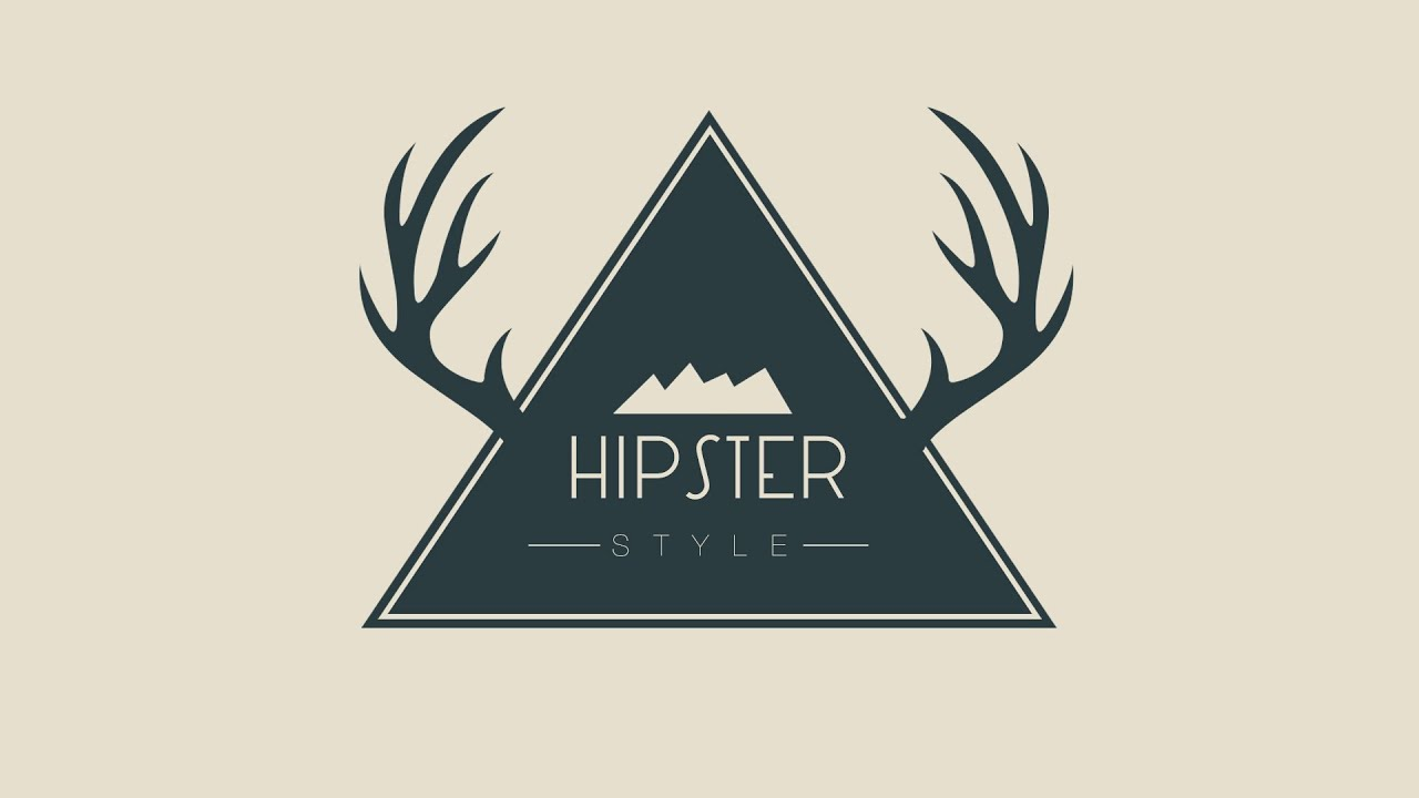 Design A Wild Hipster Badge In Photoshop - YouTube