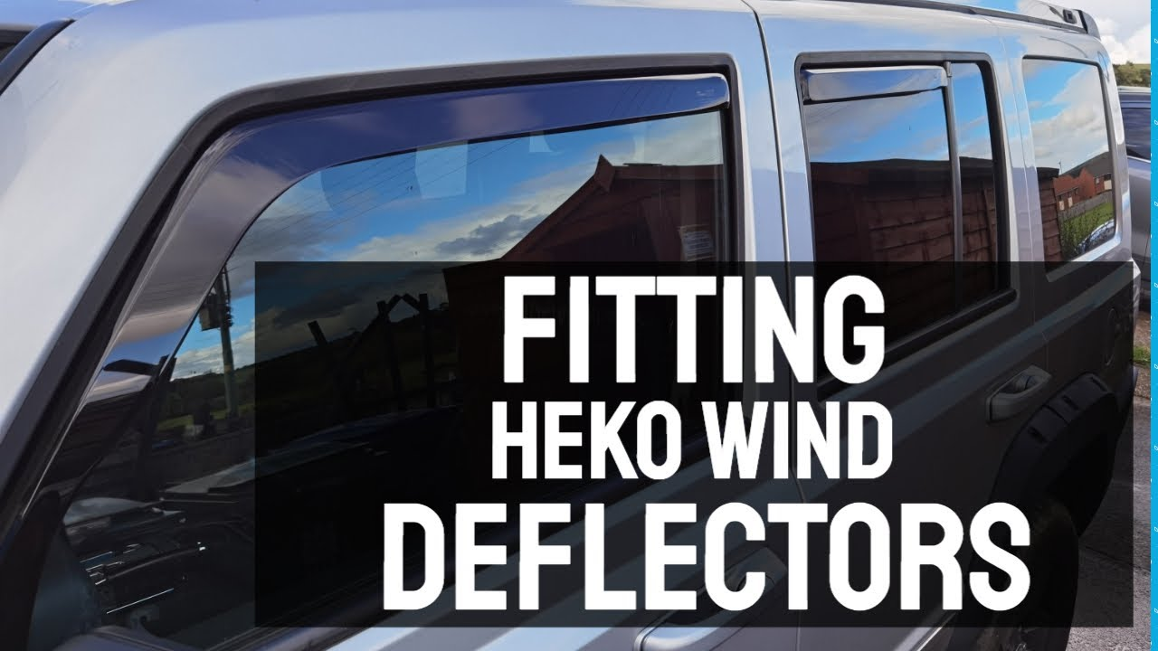 Fitting Heko Wind Deflectors to my Jeep Commander