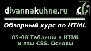 05-08 Таблицы в HTML и азы CSS. Основы (Обзорный курс по HTML)