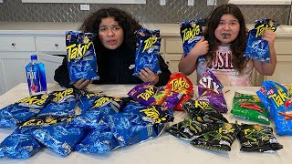 LAST TO STOP EATING SPICY TAKIS WINS A SPECIAL PRIZE!! Izzy Cried so much!!!