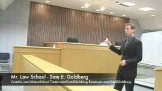 Mr. Law School (Sam E. Goldberg) - Criminal Trial- Part 1 - opening statements