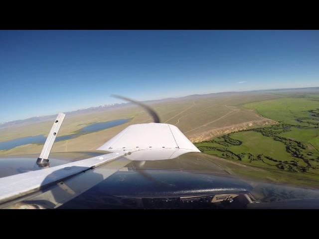 Departing 8,150ft Runway 22 at Walden, CO (33V) over North Platte River