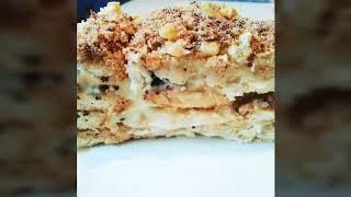 Торт. САМЫЙ ПРОСТОЙ Торт Наполеон без раскатки КОРЖЕЙ, БЕЗ ДУХОВКИ, БЕЗ ВЫПЕЧКИ.Вкуснейший НАПОЛЕОН