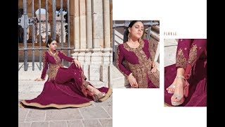 Latest Indian dresses Collection 2018 || Jinaam Fashion || floral nazma 7441-7447 series