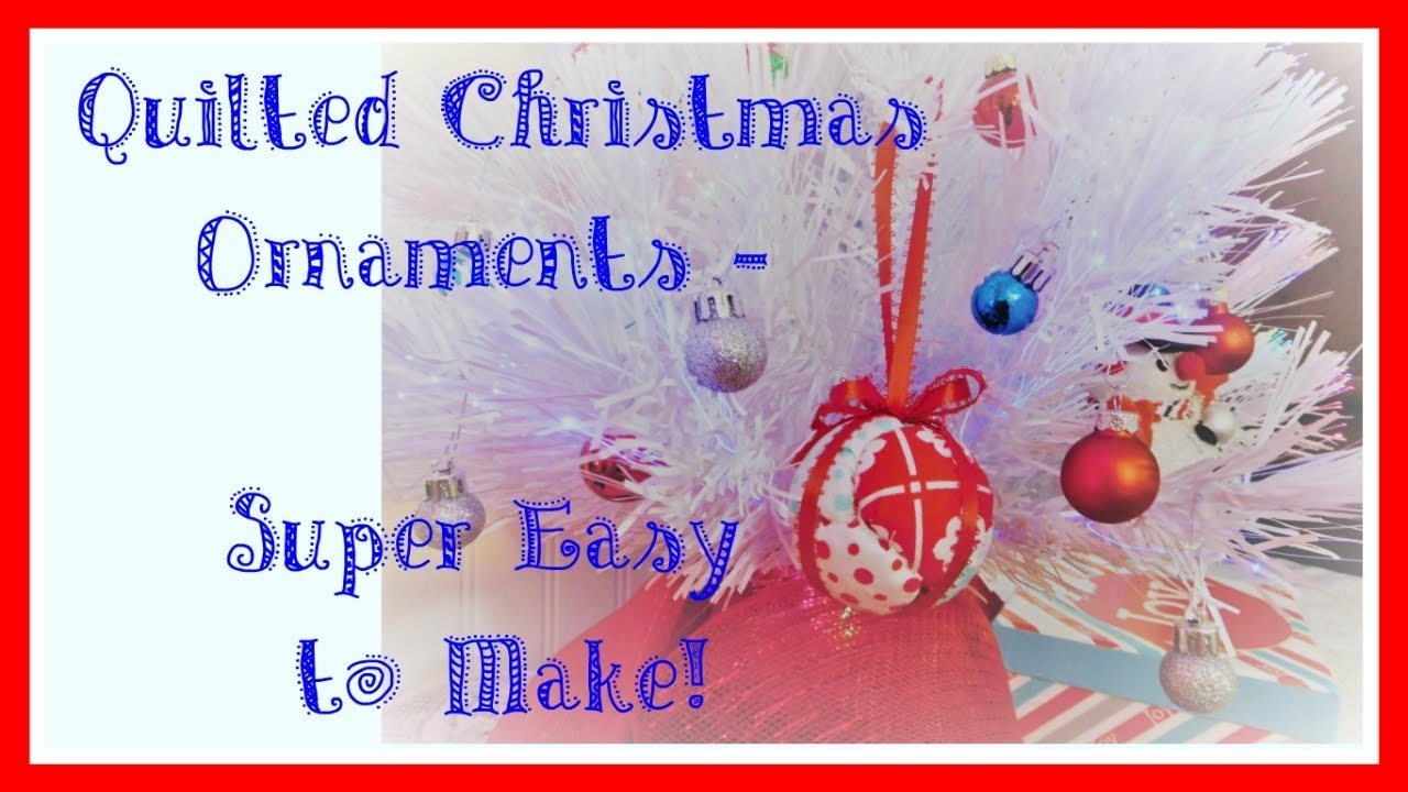 Easy No Sew Quilted Christmas Ornament Tutorial