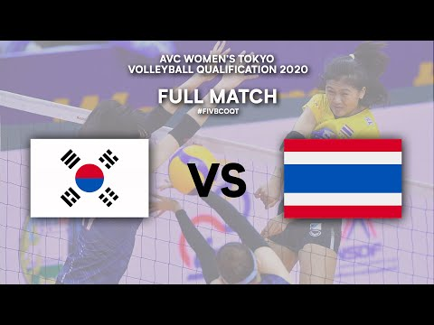 Download KOR vs. THA - Full Match | AVC Women's Tokyo Volleyball Qualification 2020