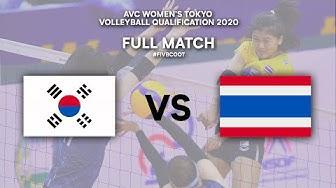 KOR vs. THA - Full Match | AVC Women's Tokyo Volleyball Qualification 2020