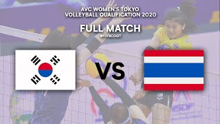 KOR vs. THA - Full Match | AVC Women's Tokyo Volleyball Qualification 2020