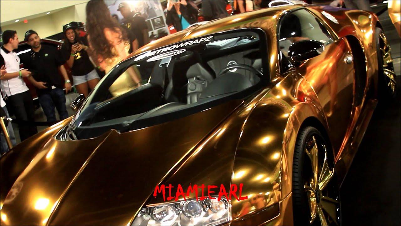 flo-rida's gold wrapped bugatti at forgiato fest 2013 - youtube