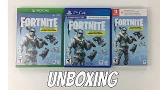 FORTNITE DEEP FREEZE BUNDLE UNBOXING XBOX ONE NINTENDO SWITCH AND PS4