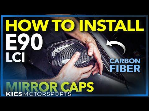 BMW E90 328/335 LCI CARBON FIBER MIRROR CAP INSTALL DIY (Easy E90 Mods!)