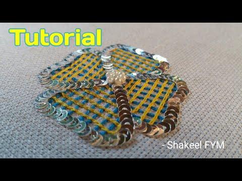 Hand Embroidery Net Stitch Flower Tutorial | Aari Embroidery | Hand Work