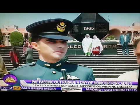 Pakistan Air Force Passing Out Parade, Risalpur,  April 11th 2017, Report by Raza Khan for PTV World