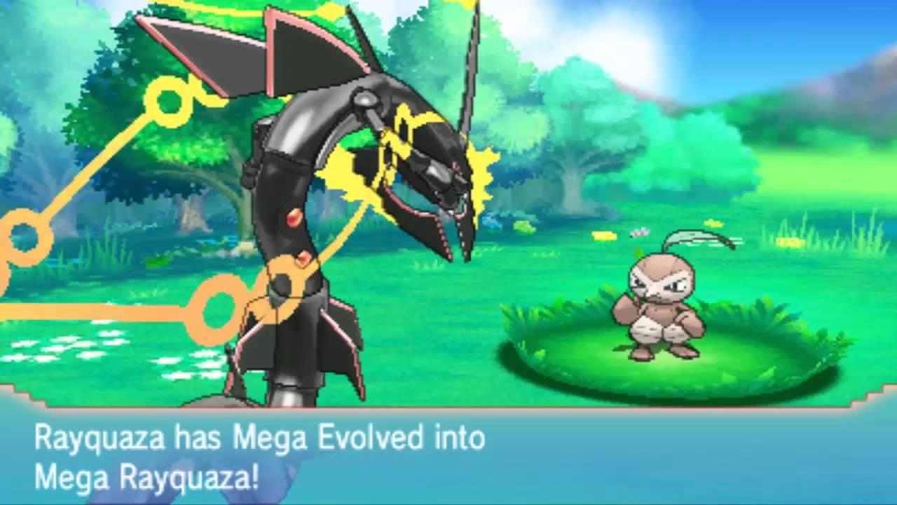 Pokemon Omega Ruby Alpha Sapphire Shiny Mega Rayquaza