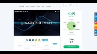 DataBlockChain - обзор социальной активности. Оценки и отзывы экспертов DataBlockChain (DBCCoin)