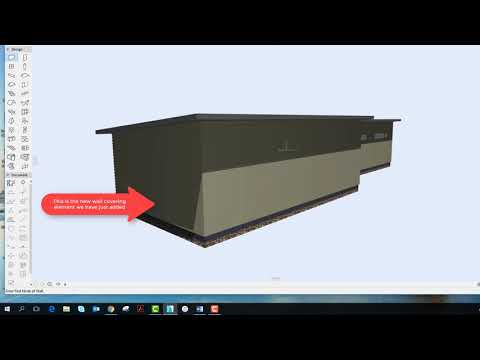 Introduction to using the Cadimage Wall and Roof coverings tools