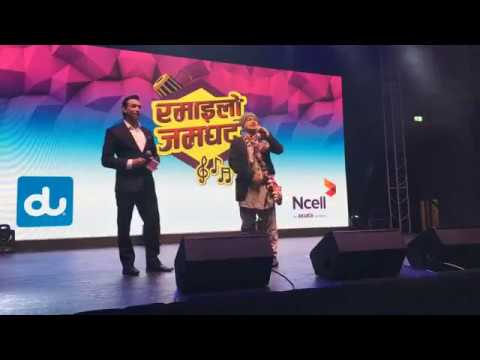Takme Budha Best Comedy In Abu Dhabi | Ramailo Jamghat Du and Ncell concert 2017 ||